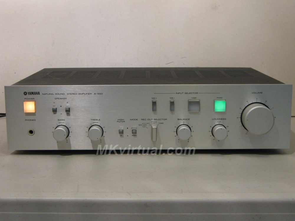 yamaha a 550 integrated amplifier