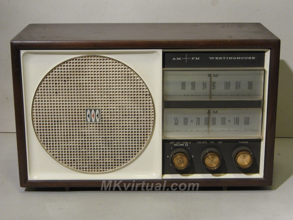 westinghouse model 764n7w am fm table radio. Black Bedroom Furniture Sets. Home Design Ideas